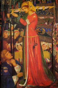 "D.G. Rossetti. ""Before the Battle""."