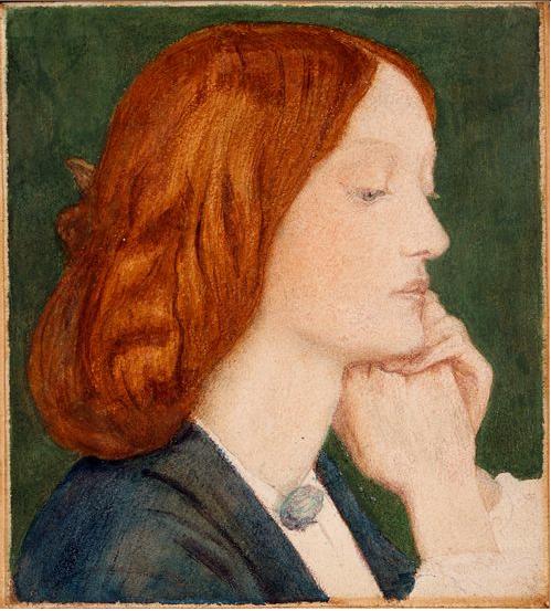 Dante Gabriel Rossetti, Elizabeth Siddal, 1854, Delaware Museum of Art, Wilmington, DE